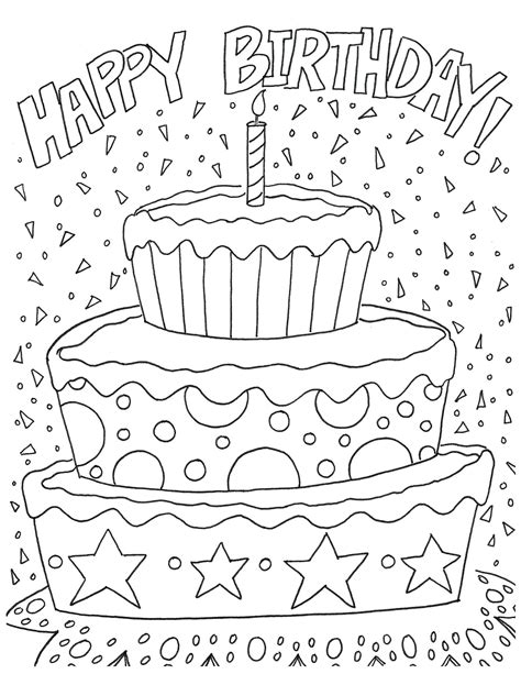 birthday coloring pages  adults  getcoloringscom