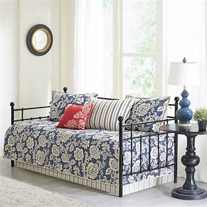 Home, Essence, Rose, 6, Piece, Cotton, Twill, Reversible, Daybed