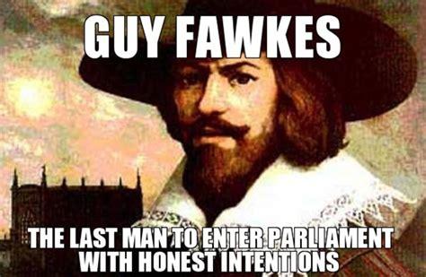 Guy Fawkes Meme - the gunpowder plot 17th century false flag