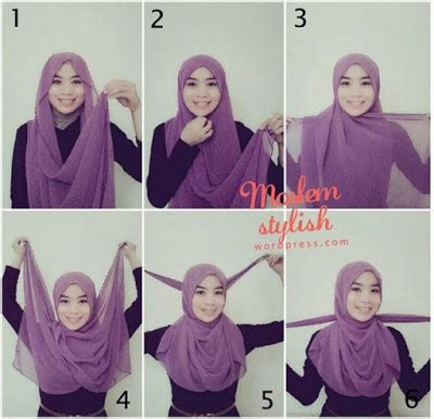 tutorial hijab pashmina simple terbaru tutorial hijab