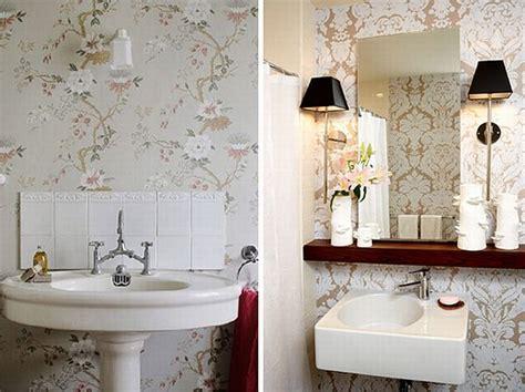 wallpaper bathroom designs small bathroom wallpaper ideas dgmagnets com