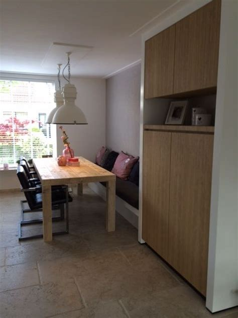ikea kitchen cabinets eindresultaat eethoek tafel steigerhout wandkast eiken 4572