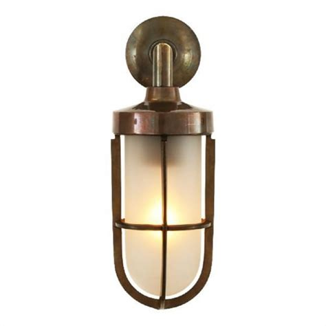 nautical design solid antique brass wall light with
