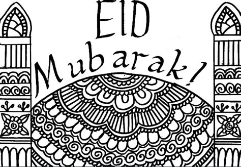 printable eid mubarak colouring pages