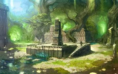 Ruins Fantasy Anime Jungle Background Wallpapers Ancient