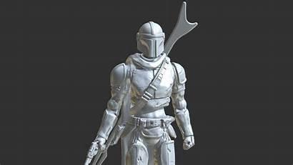 Mandalorian 3d Figure Action Models Figurines Inspirited