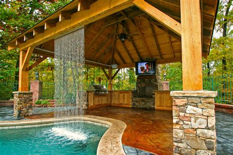 backyard oasis  custom built swimming pool outdoor