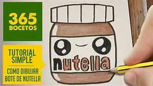 COMO DIBUJAR UN BOTE DE NUTELLA KAWAII PASO A PASO Dibujos kawaii faciles How to draw