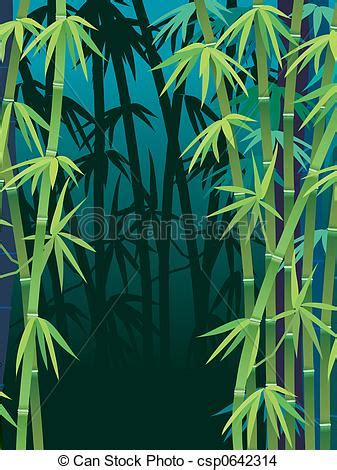 bamboo forest illustration   dark tropical bamboo forest