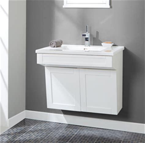shaker americana  wall mount vanity polar white