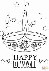 Diwali Coloring Diya Candle Pages Printable Happy Drawing Craft Colouring Festival Indian India Sketches Draw Crafts Supercoloring Cards Candles Drawings sketch template