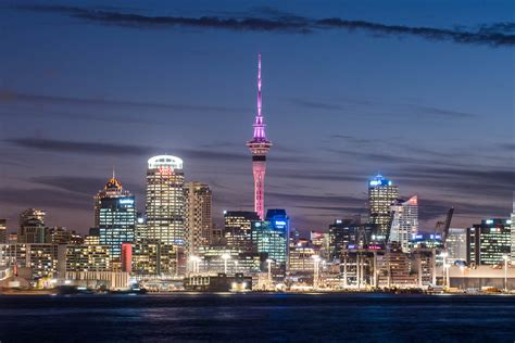 Sky Tower Glows For Pink October