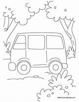 Van Coloring Simple Pages sketch template