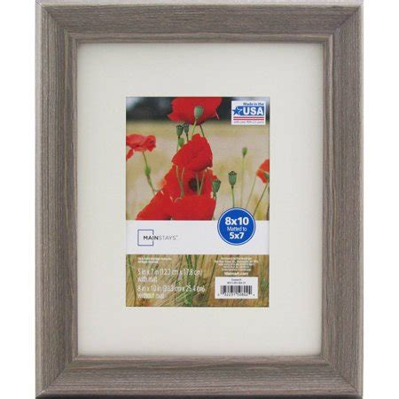 5x7 matted frame mainstays 8x10 matted to 5x7 graywash picture frame