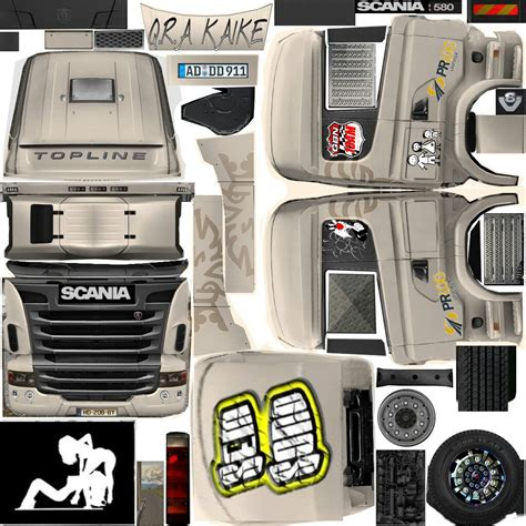 grand truck simulator skin scania r360 r580 top e
