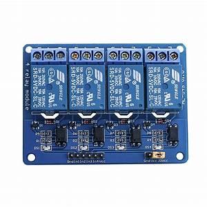 Elegoo 4 Channel Dc 5v Relay Module With Optocoupler