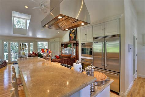 two level kitchen island 50 gorgeous kitchen designs with islands designing idea 6428