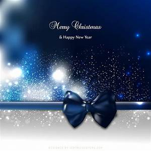 Blue, Black, Christmas, Greeting, Card, Background, With, Bow