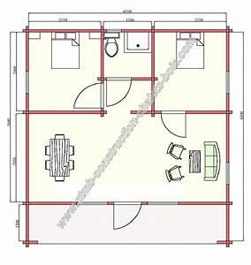 chalet habitable en madriers 45 mm de 48 m2 avec terrasse With plan maison gratuit 3d 0 plan gratuit de chalet en bois en kit et plan de maison bois