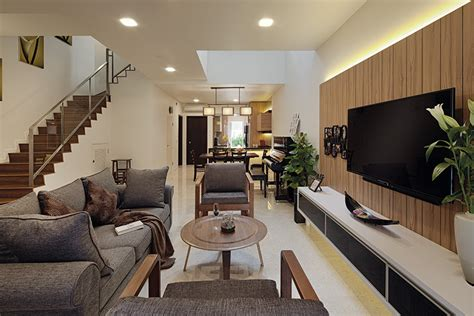 Luxurious Home Uses Wood And Elements To Interiors And Exteriors by Rich Woody Elements In A Newly Built Terrace House By