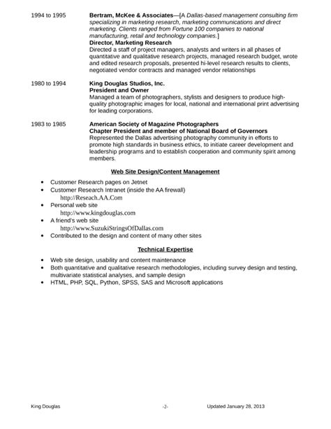 ats optimized market research analyst resume template page 2