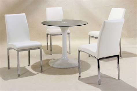 glass table with 4 chairs small round white high gloss glass dining table and 4 chairs