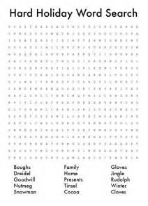 Hard Christmas Word Search Printable