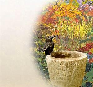 vogeltranke vogeltranken fur garten aus stein und granit With französischer balkon mit garten steckdosensäule granit