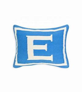 jonathan adler junior letter e pillow in blue With letter e pillow