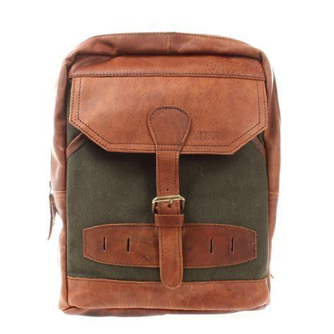 LECONI Crossbag Rucksack Canvas grün LE1012