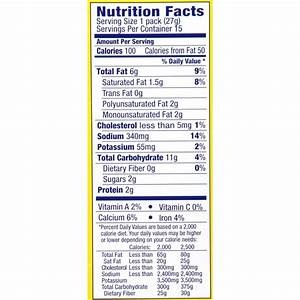 Ritz Crackers Nutrition Chart Ritz Crackers Food Label World Of Reference