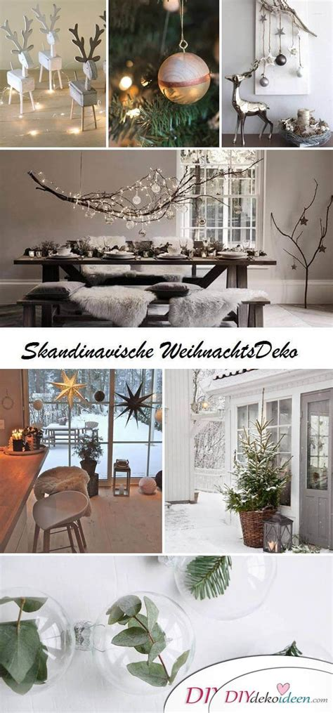 weihnachtsdeko 2017 draußen skandinavische diy weihnachtsdeko und bastelideen zu