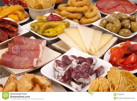 cuisine espagnole tapas various tapas royalty free stock images image