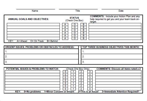 goal tracker template 8 goal tracking sles sle templates