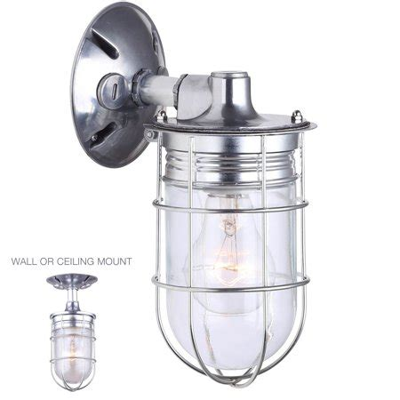 weatherproof exterior outdoor cage light wall or ceiling mount lantern industrial barn sconce