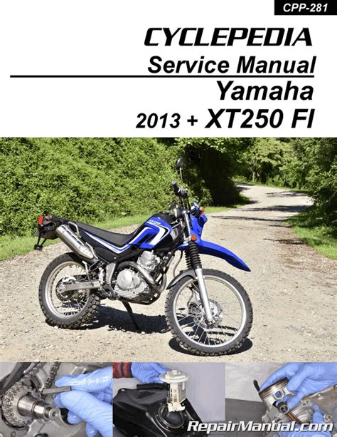 2013 2019 yamaha xt250 fuel injected motorcycle print service manual by cyc ebay