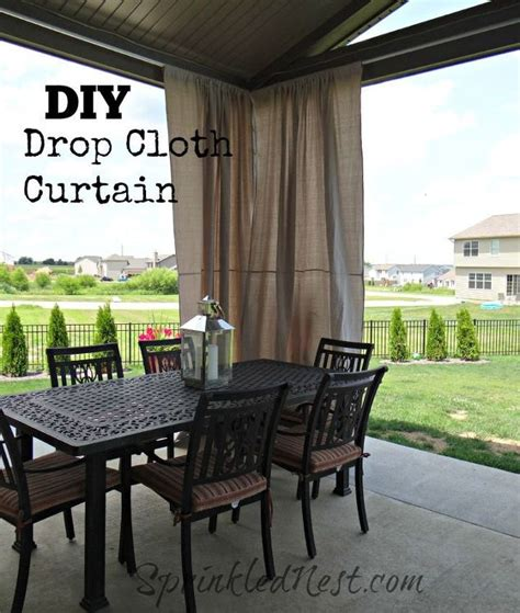 diy outdoor drop cloth curtains hometalk