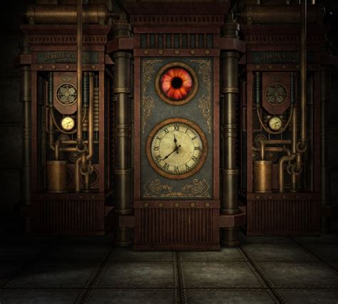 steampunk time wall mural pixers    change