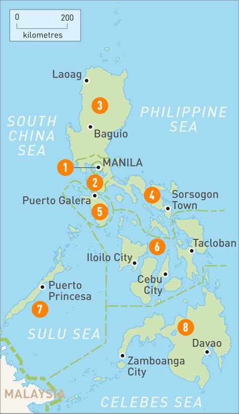 map   philippines  philippines regions rough