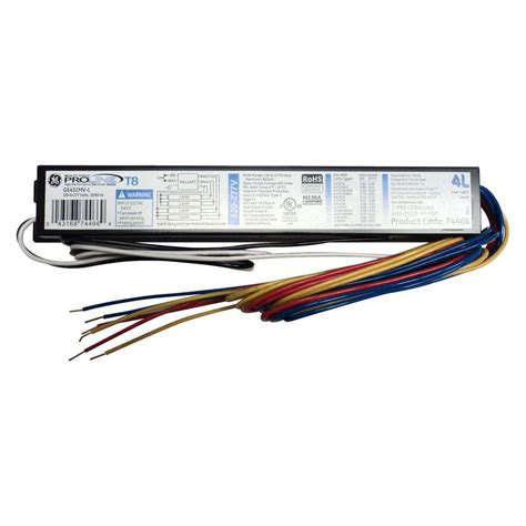 3 l t8 ballast ge 120 to 277 volt electronic low power factor ballast for