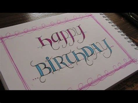 write  fancy creative letters happy birthday