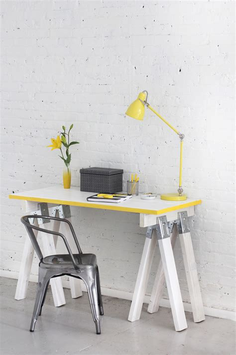 diy sawhorse desk plans guide patterns