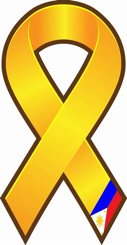 Ribbon Yellow Vector Awareness Clipart Clipartpanda Panda