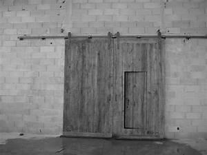 portail a lames en vieux chene montage sur rail With porte de garage et systà me coulissant pour porte