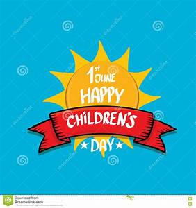 1 June International Childrens Day Background. Vector ...