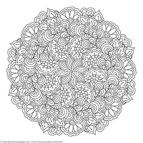 zentangle  mandala coloring pages getcoloringpagesorg
