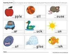 beginning sounds worksheets  preschools