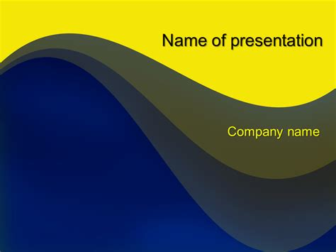 yellow wave powerpoint template