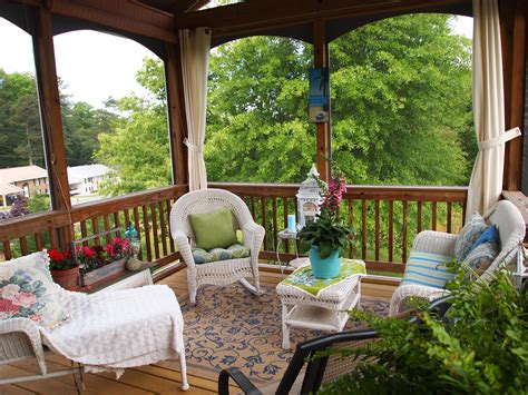 How To Decorate A Screened Porch screened porch decorating a cultivated nest