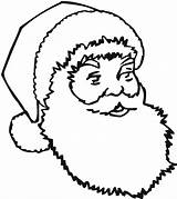 Santa Coloring Beard Kindergarten Educativeprintable Printable sketch template